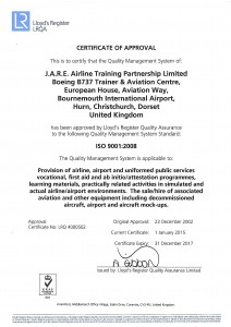 LRQA ISO 9001:2008 Certificate of Approval