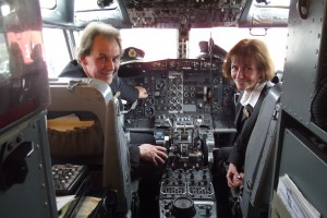 Julie A.Rushton & Andrew N.S.Easton – Founders of JARE ATP – on the Flight Deck of their Boeing B737 Trainer Aircraft welcome everyone to their Boeing B737 Trainer & Aviation Centre at Bournemouth International Airport on the South Coast to learning new and exciting aviation skills valued by the aviation industry worldwide